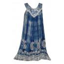Großes Sommerkleid - blau grau