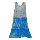 Großes Sommerkleid - Blumenblau