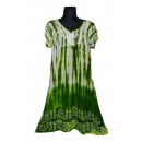 Kurzarm kurzes Sommerkleid - grün