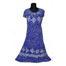 Extra großes Sommerkleid - blau
