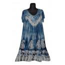 Kurzarm kurzes Sommerkleid - blau