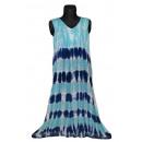 Großes Sommerkleid - gestreiftes Blau