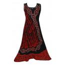 Sommerkleid für  Frauen - rot, schwarz
