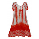 -Kurzarm-Kurzarm Kleid - rot