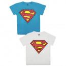 Superman playera de manga corta para niño (azul y
