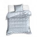 Biancheria da letto a scacchi grigia 140x200 cm