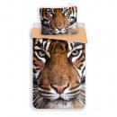 Großhandel Kissen & Decken: Tiger Bettwäsche 140x200 70x90