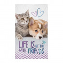 wholesale Home & Living: Dog and kitten hand towels (friends)