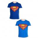 Superman camiseta de manga corta para niño (azul)