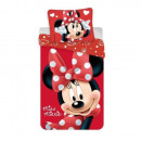 Minnie mouse microfiber bedding 140x200 cm