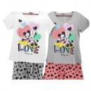 mayorista Pijamas: Minnie niña ratón con mangas cortas piyama (corazó