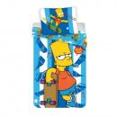 The Simpsons bed linen (Bart, skateboard)