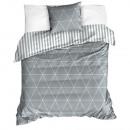 Biancheria da letto a triangoli grigi