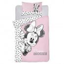 Minnie Maus-Ovis-Bettwäsche (rosa Tupfen)