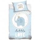 groothandel Bedtextiel & matrassen: Olifant ovis beddengoed (blauw, kleine liefde)