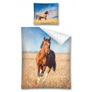 Großhandel Bettwäsche & Matratzen: Braunes  Pferdebettlaken 140x200 70x80