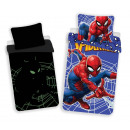 wholesale Bed sheets and blankets: Phosphorescent Spiderman Bedding 140x200 70x90