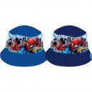 hurtownia Produkty licencyjne: Czapka wędkarska Spider-Man dla chłopca (niebieska