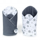 Minky star bandage (gray)