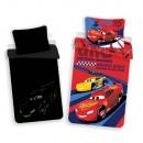 Fosforescente Cars ropa de cama (McQueen)