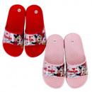 groothandel Licentie artikelen: Minnie muismeisje in pantoffels (rood, roze)