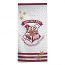 Großhandel Bad- und Frottierwaren: Harry Potter Handtuch (Hogwarts, rot)