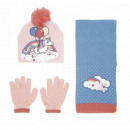grossiste Vetement et accessoires: Casquette licorne, écharpe, ensemble de gants