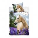 nagyker Ágyneműk és matracok: Lovas ágynemű (lila levendula)