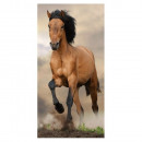 Braunes Pferdetuch 70x140 cm