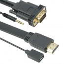grossiste Electronique de divertissement: Flat HDMI - Câble  VGA avec son - 3 mètres