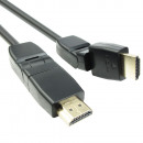 grossiste DVD & Television & Accessoires: Câble HDMI avec  bras oscillant - 1,5 mètre