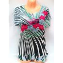 Großhandel Hemden & Blusen: Bluse für Frauen, kurze Ärmel, Blumen