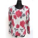 wholesale Shirts & Blouses:Blouse, flowers, L-2XL