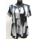Großhandel Hemden & Blusen: Bluse für Frauen, kurze Ärmel, M-3XL