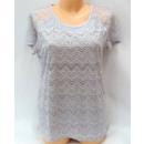 Großhandel Hemden & Blusen: Bluse für Frauen, kurze Ärmel, Spitze