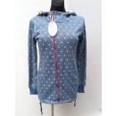 Großhandel Pullover & Sweatshirts:,Damen-Kapuzenpulli Punkte, Schieber