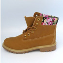boots for women,  autumn, camel, flowers