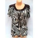 Großhandel Hemden & Blusen: Bluse für Frauen,  kurze Ärmel, Farbmischung