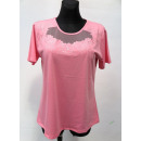 smooth blouse for  women, short sleeve, color mix