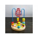 Zabawka z drewnianymi koralikami