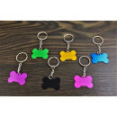 wholesale Keychains: Aluminum cube keyring for engraving
