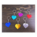 wholesale Keychains: Aluminum heart keyring under engraving