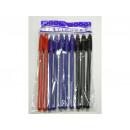 Długopisy 10 szt (6niebieski+2czarny+2czerwony)