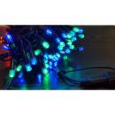 hurtownia Dekoracje: Lampki choinkowe 100 LED multikolor zewnętrzne
