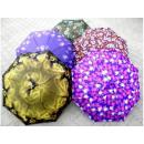 Parasol mini kwiaty manualny odporny na wiatr