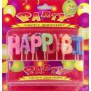 Świeczki urodzinowe HAPPY BIRTHDAY