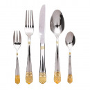 wholesale Cutlery: Set of 84 cutlery, silver-gold