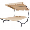 wholesale Garden Furniture:Double sunbed with shade