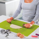 wholesale Kitchen Gadgets: Non-stick rolling pin with stretcher, green