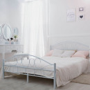 wholesale furniture: Metal bed frame with gift bedding 160x200cm